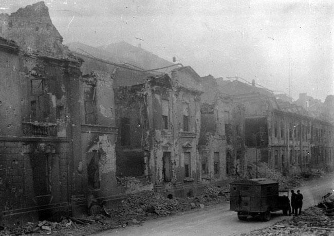 Здание Гестапо в Берлине, 3 мая 1945 г. Автор съемки: Яшков В. Е.