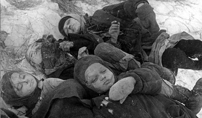 Умершие дети. Сталинград, 1942 г.