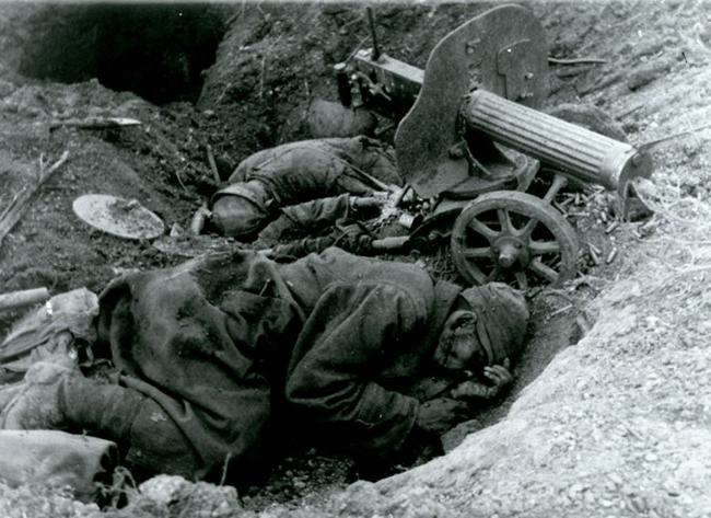 Убитые советские пулеметчики. 1941 г.