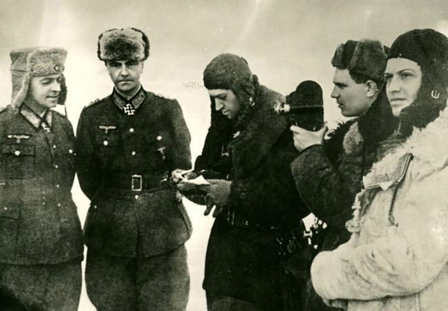 Пленение генел-фельдмаршала Паулюса в Сталинграде, 1943 г. Автор съемки: Зенин А. Н.