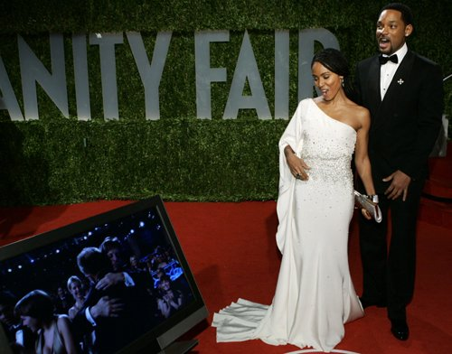 Оскар 2008 Уилл Смит и Джада Пинкет-Смит на Vanity Fair Oscar Party
