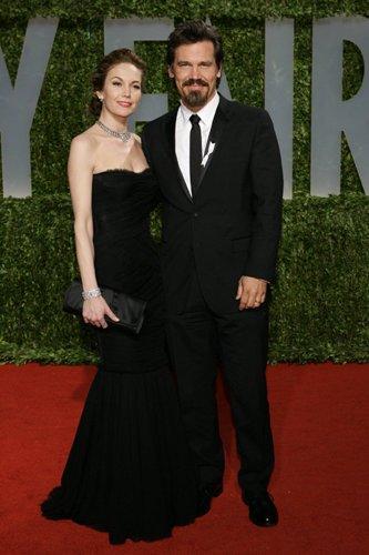 Оскар 2008 Джош Бролин с женой Дианой