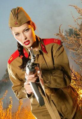 Оружие в руках женщины