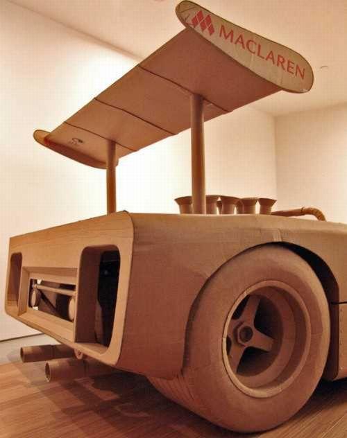 Машинки из картона