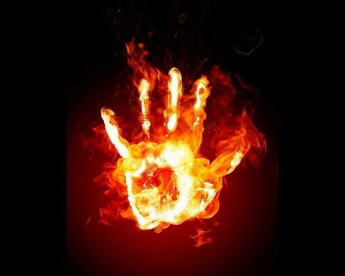 Огненные коллажи
