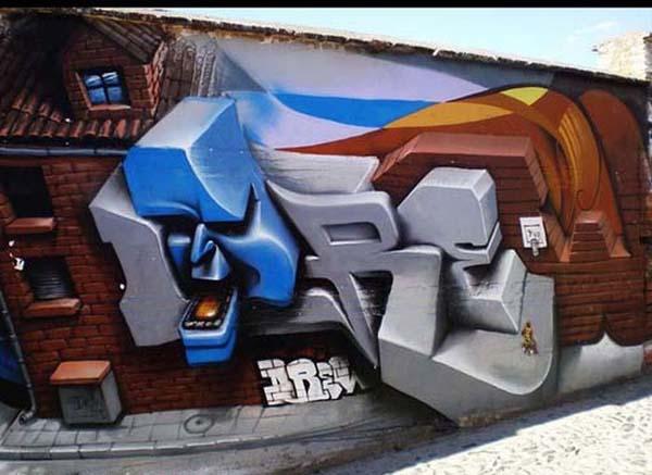 Красивые, креативные граффити