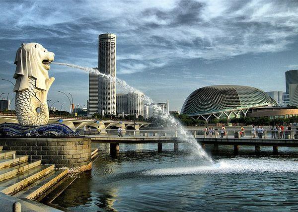 Красивейшие фонтаны мира Фонтан Мерлион (Merlion Front) в Сингапуре