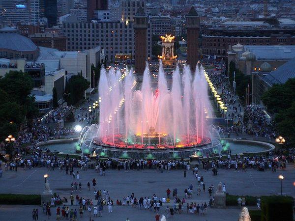 Красивейшие фонтаны мира Фонтан Монжуик (Montjuic) в Барселоне