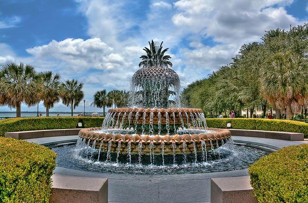 Красивейшие фонтаны мира Фонтан Ананас (Pineapple) в Чарльстоне, Южная Каролина