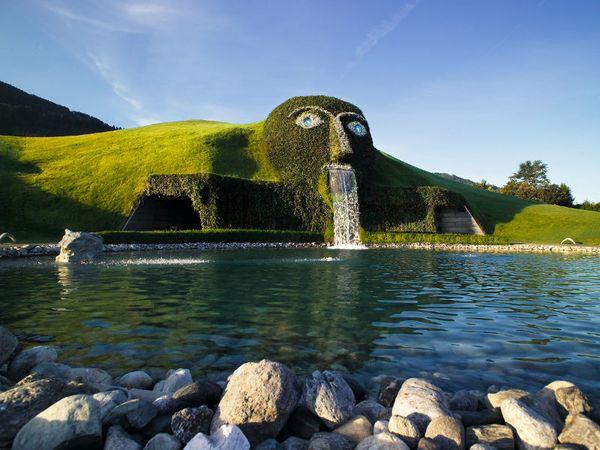Красивейшие фонтаны мира Фонтан Сваровски (Swarovski Fountain) в технопарке Кристаллические миры Сваровски (Австрия)