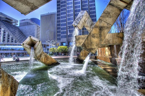 Красивейшие фонтаны мира Фонтан Vaillancourt, Сан-Франциско