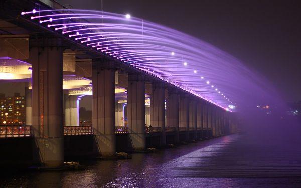 Красивейшие фонтаны мира Фонтан Банпо, Сеул, Южная Корея