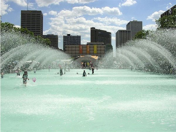Красивейшие фонтаны мира Фонтан City Hall, Нью-Йорк