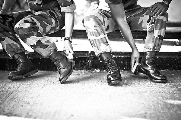 Французский Легион Легионеры обязаны следить за своим внешним видом, одежда должна быть чистой, ботинки начищены.