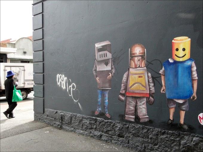 Уличные картины Финтана Мэги