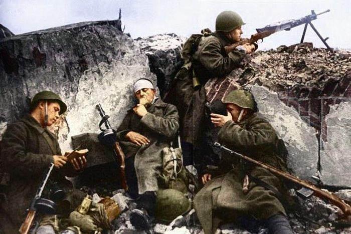 Цветные фотографии Второй Мировой