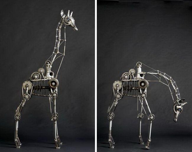 Необычные скульптуры животных