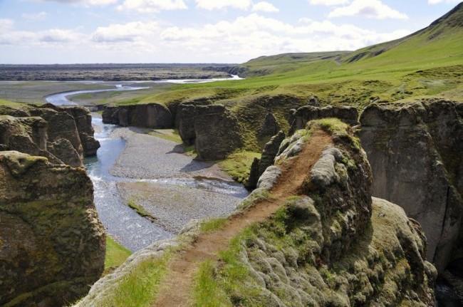 Красивейшие каньоны мира Fjaðrárgljúfur, Исландия