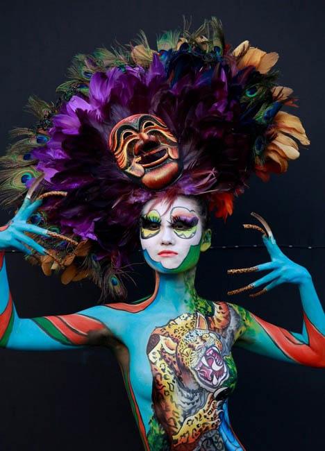 Международный фестиваль боди-арта в Южной Корее