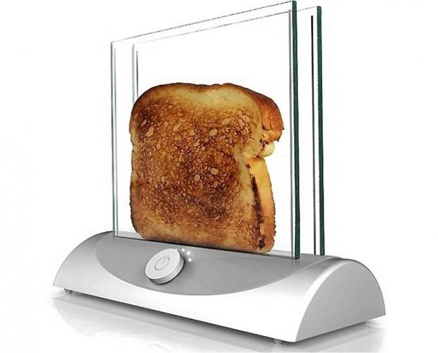 Интересные изобретения Стеклянный тостер. Для тех, кому надоел подгоревший хлеб по утрам.