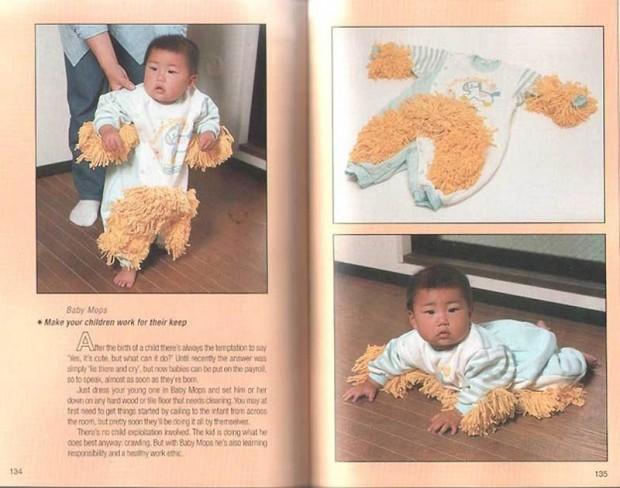 Интересные изобретения Хм… детская одежда с половой тряпкой. А что – нужно с детства приучать детей к чистоте.