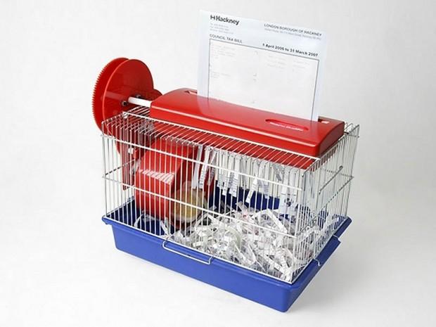 Интересные изобретения Резчик для бумаги в клетке для хомяка. Зачем покупать опилки?