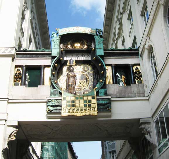 Музеи и достопримечательности Вены Знаменитые часы на площади Hohen Markt
