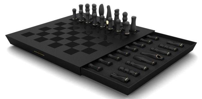 Креативные вещички Думаете это шахматы? А вот нифига: набор вибраторов