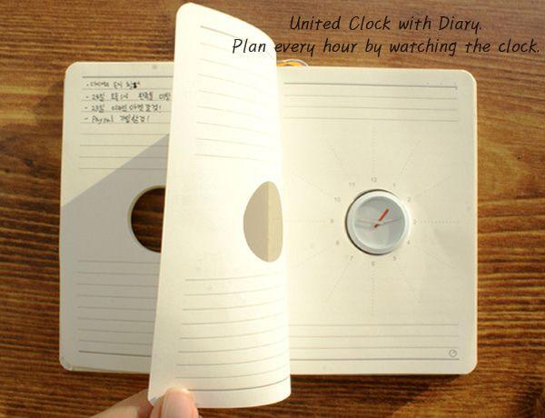 Креативные вещички Ежедневник со встроенными часами