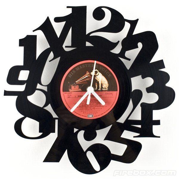 Креативные вещички Часы из пластинки