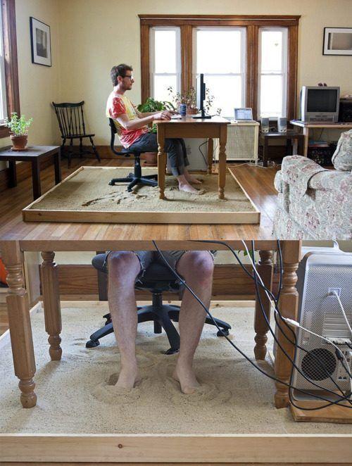 Креативные вещички Рабочее место с комфортом