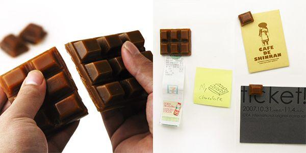 Креативные вещички Магнитики на холодильник, шоколадные