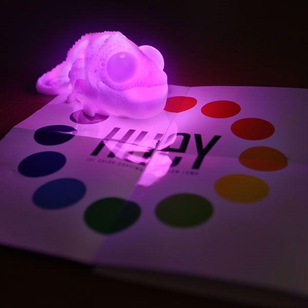 Креативные вещички Лампа-хамелеон, принимает цвет окружающей среды
