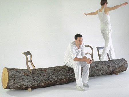 Креативные вещички Бревно-скамейка