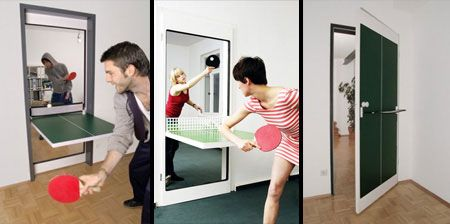 Креативные вещички Дверь для игры в пинг-понг