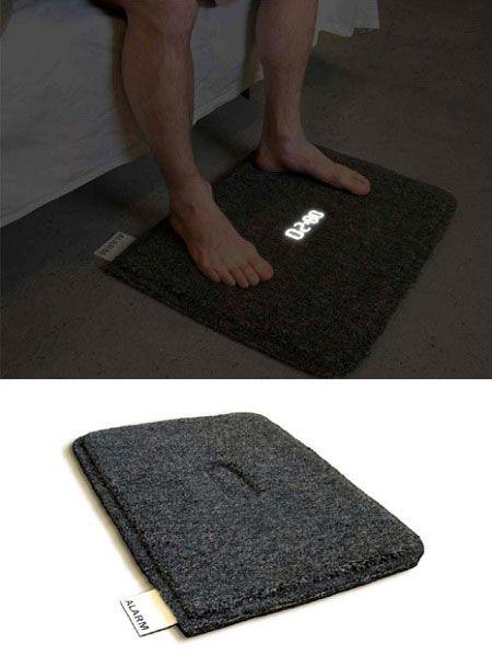 Креативные вещички Прикроватный коврик-будильник