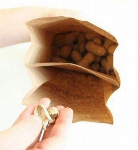 Креативные вещички Двойной пакет для семечек или орешков
