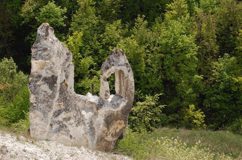 Горы Воронежской области Меловой останец возле Дивногорского монастыря