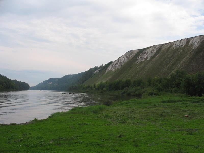 Горы Воронежской области Вид на Белогорские пещеры