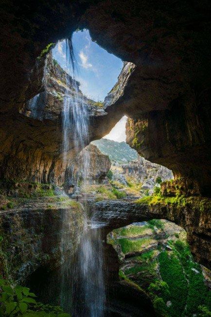 20 мест на планете, в существование которых трудно поверить Водопад Баатара, Ливан