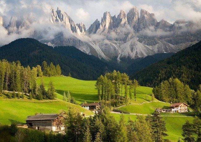 20 мест на планете, в существование которых трудно поверить Доломитовые альпы, Италия