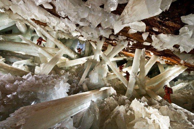 20 мест на планете, в существование которых трудно поверить Пещера гигантских кристаллов, Мексика