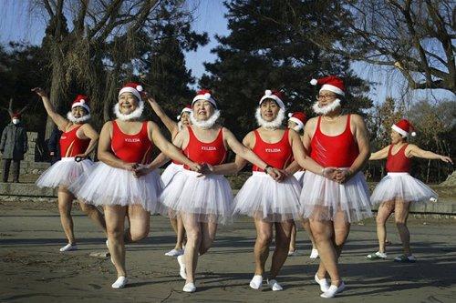 Лучшие Рождественские фотографии Рождественский танец в Китае