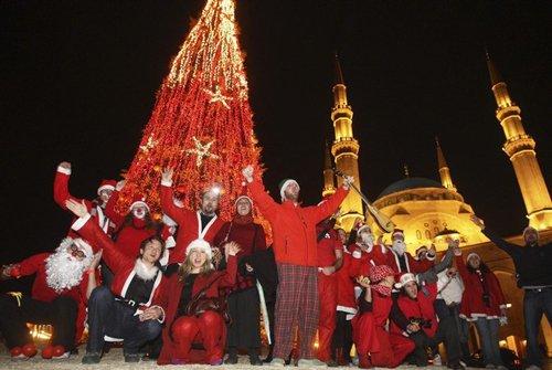 Лучшие Рождественские фотографии Празднование Рождества в Бейруте