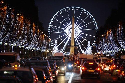 Лучшие Рождественские фотографии Площадь Согласия на Рождество в Париже, Франция