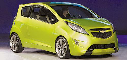Суперхиты автосалона в Детройте Готовая к серийному производству городская дешевая малолитражка Chevrolet Spark