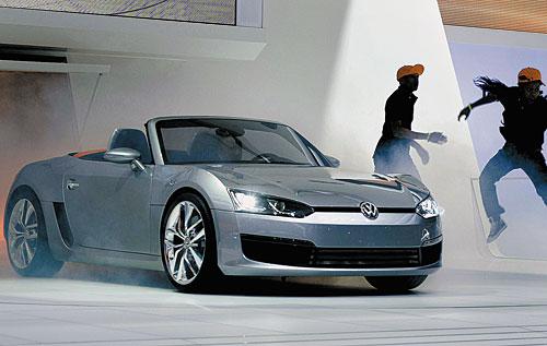 Суперхиты автосалона в Детройте Дизельный спорткар Volkswagen BlueSport из-за кризиса может остаться прототипом