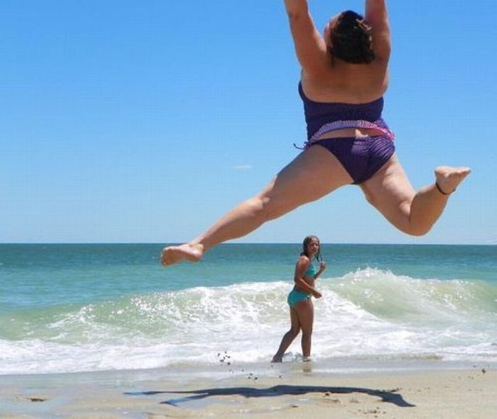 фото приколы девушки на пляже