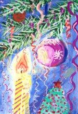 Какова история новогодней открытки?