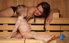 Ребёнок в сауне: да или нет?